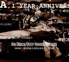 DOBARA 1 Year Anniversary Bash – Saturday 6th July @ The Horse & Groom, London